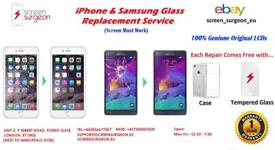 iPhone & Samsung LCD Screen Glass Replacement Repair Service