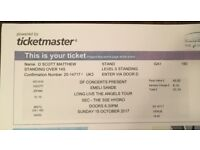 Emeli Sande Tickets x2 Glasgow SSE Hydro standing for tonight 15/10