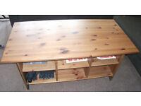 Ikea large solid wood coffee table