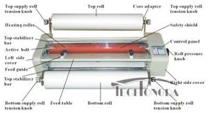 25In Thermal/Cold Laminator Doubel Side with Stander+6 Kinds of Laminating Film