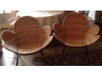 2 Rattan metal framed chairs from Habitat in very good condition