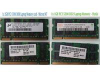 1x 2GB PC2-5300 DDR2Micron MT & 1x 1GB PC2-5300 DD2 Hynix - Laptop Memory RAM
