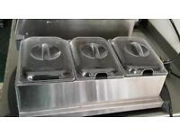 Small 3 compartment food warmer