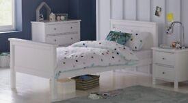 Brooklyn White Single Bed