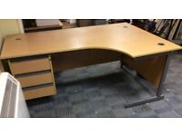 Office desk with 3 pedestal drawers