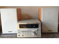 TEAC MC-D78 40 watts Micro System CD Integrated Amplifier Amp + speakers Mini Hi-Fi System