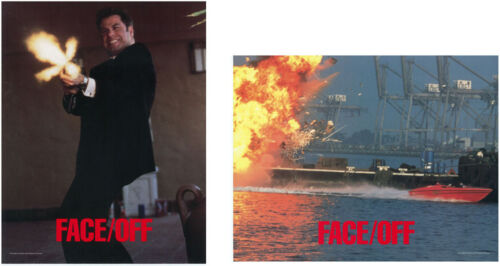 2 FACE/OFF Orig 1997 Lobby Cards  John Travolta John Woo