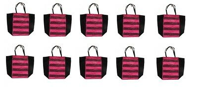 LOT OF 10 x VICTORIA'S SECRET PINK SEQUIN AND CANVAS TOTE BA