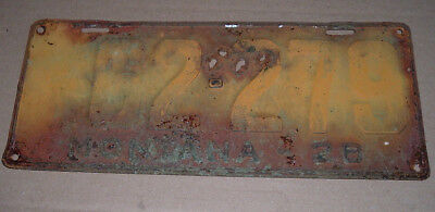 1928 Montana License Plate 62-279 Car Tag
