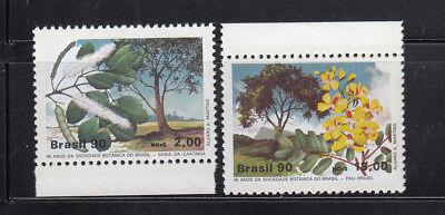 2230 Mint (Brazil 1990 Botany Flowering Trees  Sc 2229-2230 Mint Never Hinged)
