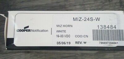 Wheelock Miz-24s-w White Miz Horn