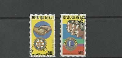MALI SC C538 & C539 ROTARY AND LIONS INTERNATIONAL ISSUES CTO