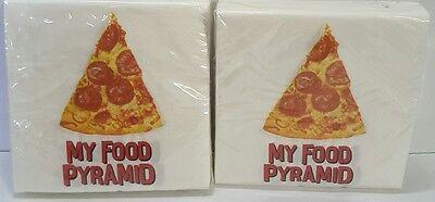 Creative Converting My Food Pyramid Pizza Party Napkin 36 2 ply 9 4/5