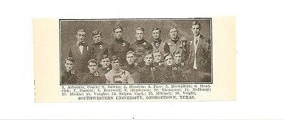 For sale Southwestern University Georgetown Texas 1909 Football Team Picture RARE!