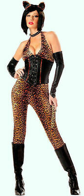 Halloween Women Costume Dressed to Kill Safari Leopard Cheetah Party Catsuit S](Safari Halloween Costume)