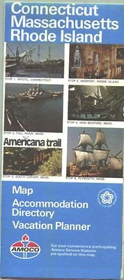 1976 Amoco Connecticut/Massachusetts/Rhode Island Vintage Road Map
