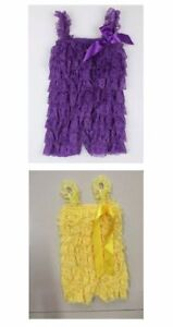 STRETCHY LACE RUFFLE ROMPERS CLEARANCE