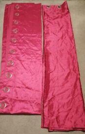 Pink Eyelet Curtains