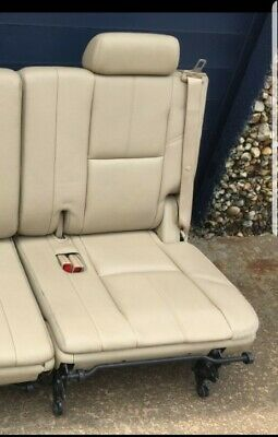 Tahoe 3rd Third Row Seat TAN Leather Yukon Suburban Denali Escalade 2007-2014 LH ()