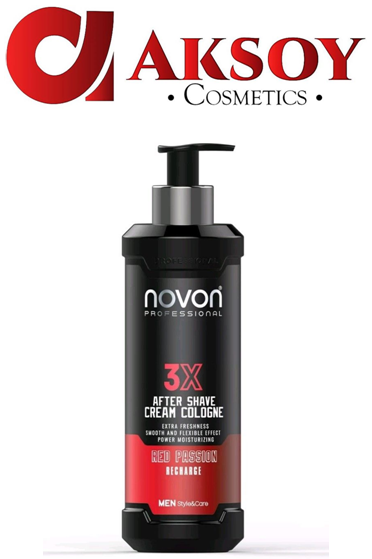 Novon Professional 3X Aftershave Cream Cologne - Red Passion - 400ml Creme
