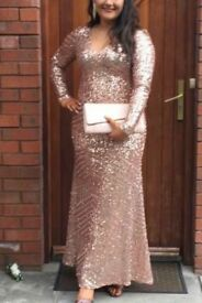 Rose gold glitter dress