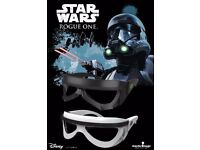 WANTED STAR WARS ROGUE ONE 3-D GLASSES, POPCORN TINS, CHARACTER CUPS, TICKETS AND MORE