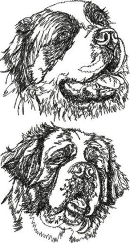 Saint Bernard Dog Breed Personalized Embroidered Fleece Stadium Blanket Gift