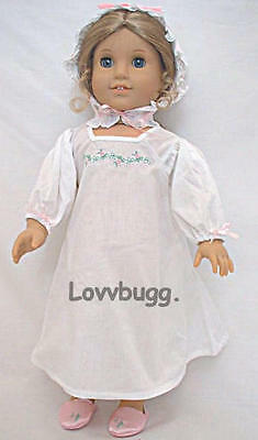 "Lovvbugg Colonial Nightgown for 18"" American Girl Doll Clothes"