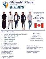 Prepare for the Citizenship Test at St. Charles