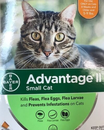 Advantage II Small Cat 5-9 lbs 6 monthly doses,US EPA approved  ,Free Shipping