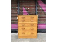 G Plan Mid Century Chest of Drawers Vintage Bedroom Furniture Retro Oak for sale  Hackney, London