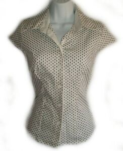 White Polka Dot Stretch Blouse - NEW! Gatineau Ottawa / Gatineau Area image 1