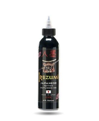 IREZUMI Tattoo Ink OUTLINING Black Color 6 oz Bottle Original Japanese