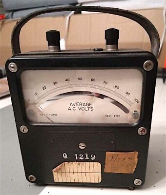 Vintage Weston Electrical Instrument Corp Average Ac Volts Meter Zero Corrector