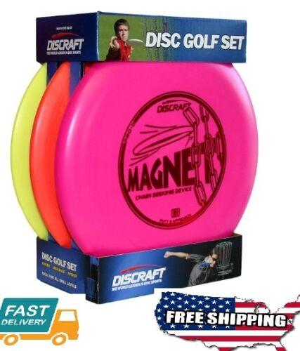 Outdoor Fitness Game Sport Goods Starter Beginner Disc Golf Set,3-Pack Golf disc