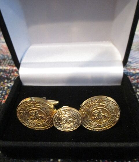 Civil War Cuff Links & Pin w/ the Confederate States of America CSA Great Seal