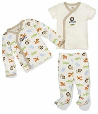 Zoo Animal Outfits (Carters 3-piece Zoo Animals Take-Me-Home Outfit Layette Set Neutral Colors NWT)