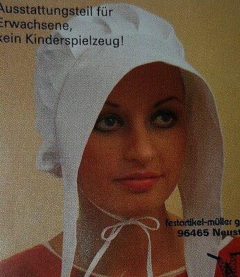 Faschingszubehör/ Karnevalszubehör/mittelalterliche Frauenhaube/ neu / weiß - Mittelalterliche Haube