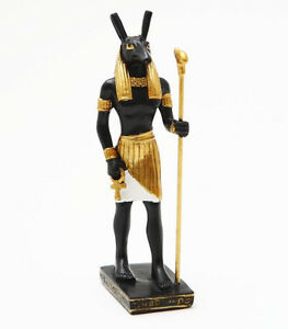 Egyptian God of Chaos Set Seth Ankh Miniature Small Statue Collectible Figurine