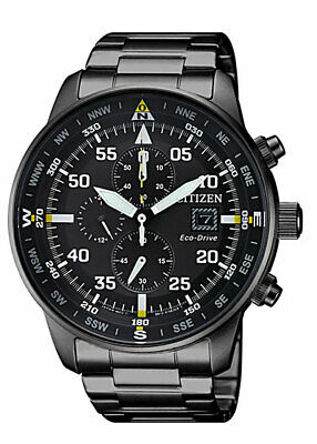 Citizen Eco-Drive Men's CA0695-50E Chronograph Black Dial Band 44mm Watch