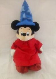 "Mickey Sorcerer Apprentice Disney Plush Soft Toy 28"""