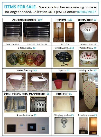 VARIOUS SMALL ITEMS FOR SALE