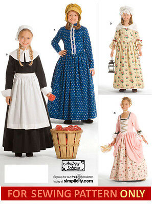 SEWING PATTERN! MAKE COSTUME LIKE AMERICAN GIRL FELICITY~KIRSTEN~PILGRIM~PIONEER