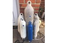 6 x Anchor Boat fenders/ bouys - mixed sizes