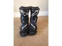 Alpinestars SMXplus motorcycle bike boots size 10