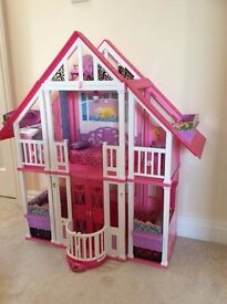 3 Storey Barbie House in excellent condition with accessories