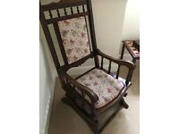 Beautiful Antique Rocking Chair, has been reduced!!!!