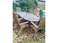 8 seater overal garden table and chair set with parasol
