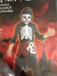 Skeleton reaper costume size 9-12 years - Collingwood