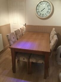Next large drop leaf table and 6 chairs